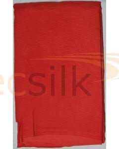 Chiffon Silk Saree With Blouse Dark Rust