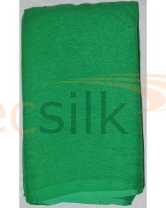 Chiffon Silk Saree With Blouse Leaf Green
