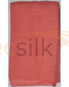 Chiffon Silk Saree With Blouse Light Red