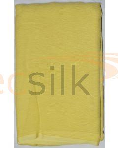 Chiffon Silk Saree With Blouse Light Yellow