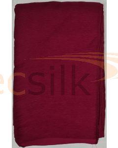 Chiffon Silk Saree With Blouse Maroon