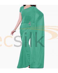 Chiffon Saree Plane Green