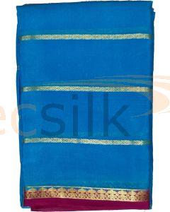 Crepe Silk Saree Blue Jari Body