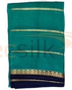 Crepe Silk Saree Light Rama Jari Body
