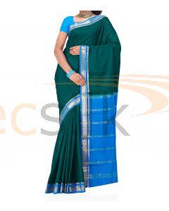 Crepe Silk Saree Blue & DeepRama