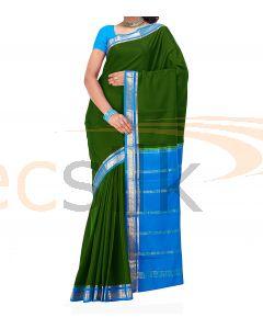 Crepe Silk Saree Blue & Green