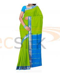 Crepe Silk Saree Blue & LightGreen