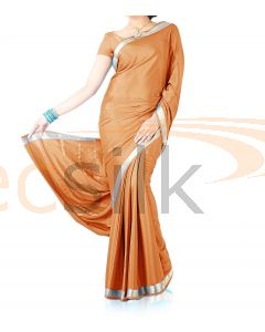 Silk Crepe Saree Light Orange
