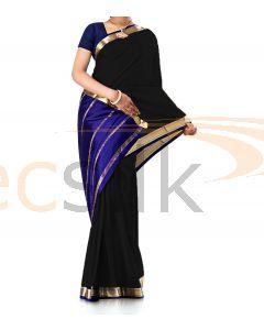 Pure Crepe Silk Saree Black