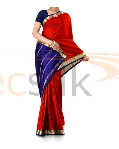 Pure Crepe Silk Saree Deep Red