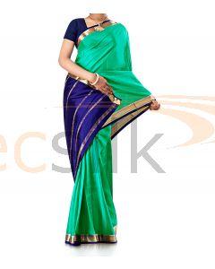 Pure Crepe Silk Saree Green