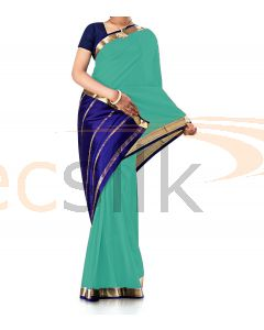 Pure Crepe Silk Saree Ligh Pistha