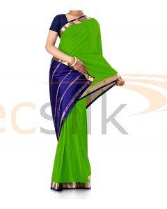 Pure Crepe Silk Saree Light Green