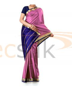 Pure Crepe Silk Saree Light Pink