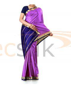 Pure Crepe Silk Saree LLight Purple
