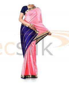 Pure Crepe Silk Saree Pink