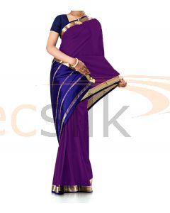 Pure Crepe Silk Saree Purple