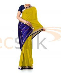 Pure Crepe Silk Saree Yellow