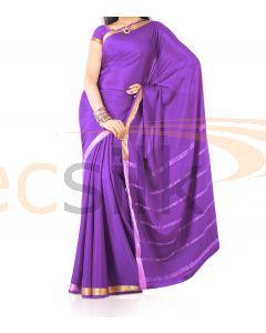 Silk Saree Crepe Purple