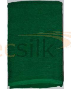 Chiffon Silk Saree With Blouse Dark Green