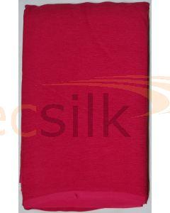 Chiffon Silk Saree With Blouse Dark Pink