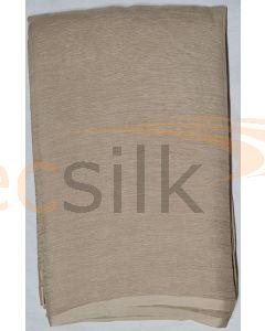Chiffon Silk Saree With Blouse Light Brown