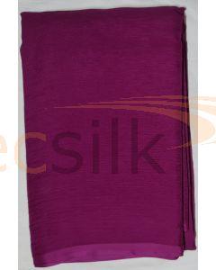 Chiffon Silk Saree With Blouse Purple