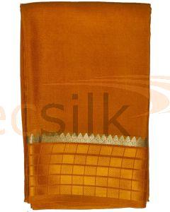 Crepe Silk Saree Copper Brown Box