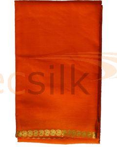 Crepe Silk Saree Orange Mango