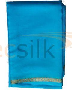 Crepe Silk Saree Sky Blue Mango
