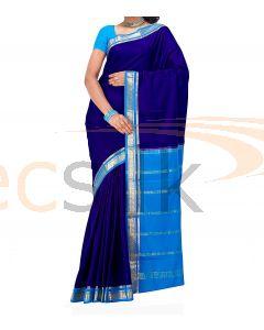 Crepe Silk Saree Blue & Blue