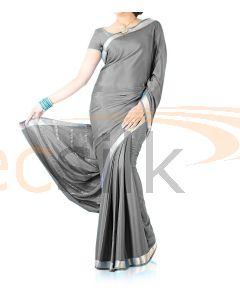 Silk Crepe Saree Light Gray