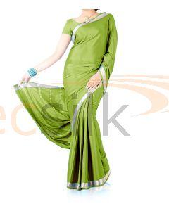 Silk Crepe Saree Light Green