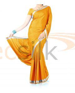Silk Crepe Saree Light Yellow