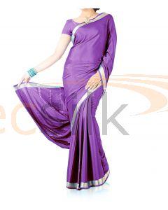 Silk Crepe Saree Purple