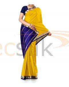 Pure Crepe Silk Saree Bright Yellow