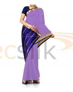 Pure Crepe Silk Saree Light Purple