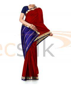 Pure Crepe Silk Saree Maroon