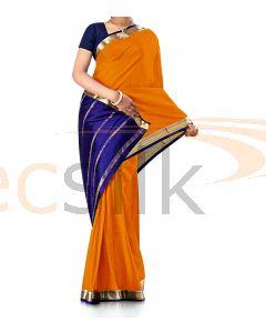 Pure Crepe Silk Saree Orange