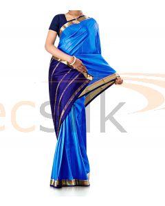 Pure Crepe Silk Saree Blue B