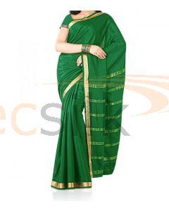 Silk Saree Crepe Green
