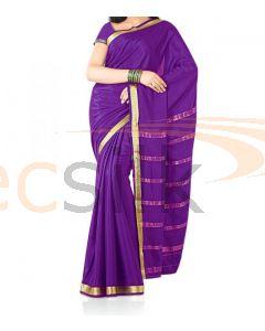 Silk Saree Crepe Purple P